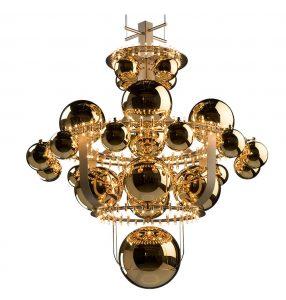 Royal Bombombola kroonluchter met gouden bollen