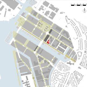 Patch 22 ligt in Buiksloterham in Amsterdam, een voormalig industrieel gebied dat wordt herontwikkeld tot nieuwe woonwijk. 4. De dozen zijn aan twee zijden opengewerkt tot enorme balkons, die hun stijfheid ontlenen aan de houten kruisverbanden