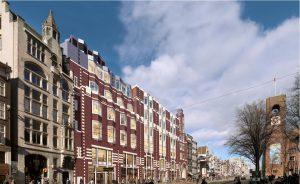 Het voormalige C&A gebouw aan het Beursplein, met doorgang naar Beurspassage. Foto Rijnboutt.