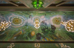 Het kunstenaarsduo Arno&Iris maakte het ontwerp voor de plafonds en vloeren. Foto John Lewis Marshall.