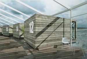 Impressie van cabins op het Zuidereiland
