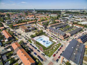 Waterplein Tiel in de Vogelbuurt in Tiel Oost • Foto Jan Bouwhuis.