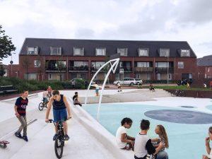 Voor het waterplein in Tiel zijn veel voorzieningen voor spel op wielen ontworpen • Foto Rende Petersen