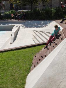 Klimobject bij het Waterplein