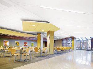 Techzone plafond Armstrong in West Paviljoen Universiteitsziekenhuis Utah - Salt Lake City, Utah, Verenigde Staten