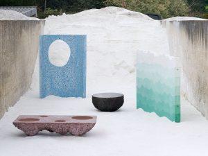 In Petrified Carpets experimenteert Studio Ossidiana met verschillende technieken om beton een ambachtelijke uitstraling te geven.