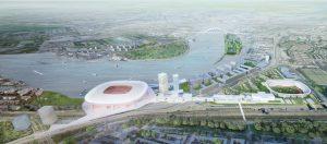 Feyenoord City aan de Maas. Image courtesy OMA