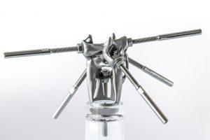 Dit 3D-geprinte stalen knooppunt kan worden gebruikt in de bruggenbouw of om elektriciteitskabels op te houden, ontwerp Arup