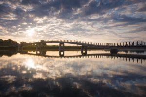De Zaligebrug (Citadelbrug) van NEXT architects verbindt het eiland Veur-Lent met de noordelijke Waaloever