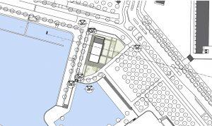 Locatie nieuw paviljoen Van Eesteren, ontwerp Korteknie Stuhlmacher
