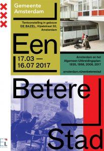 affiche tentoonstelling Een betere stad 2017
