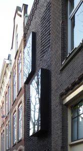 Gevel SkinnySCAR. Het uitstekende venster aan de buitenzijde • Foto Jacqueline Knudsen