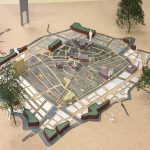 Maquette VisiteKaart ontwerp stationsplein leiden