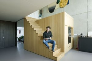 Interieur in Blok 1 Houthavens