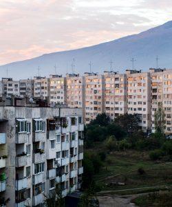 Buitenwijken van Sofia, Bulgarije