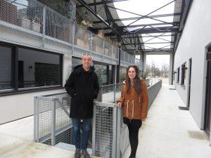 Piet Hein Eek en Iggie Dekkers in gebouw RF op Strijp R Eindhoven -Foto Jacqueline Knudsen