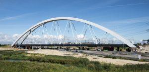 Spoorbrug Muiderberg A1 (2016), architectuur: Zwarts & Jansma Architecten © Foto ProRail