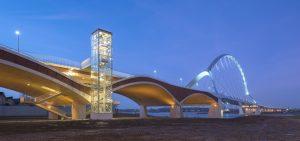 Stadsbrug De Oversteek Nijmegen 2013, architectuur: Ney & Partners © Foto Thea van den Heuvel DAPh