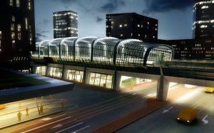 Station-Noord-Zuidlijn. Benthem Crouwel