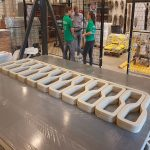 3D geprinte betonnen fietsbrug