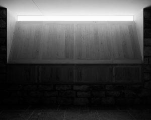 De jachtkamer is intiem van sfeer door het licht dat van boven langs de muur strijkt • Foto's Kim Zwarts.