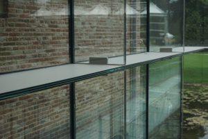 Detail glazen constructie. Foto Jacqueline Knudsen.