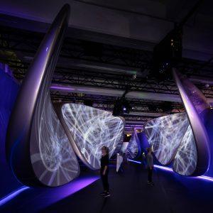 Paviljoen voor Samsung van Zaha Hadid Architects.