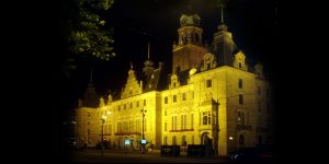 Stadhuis Rotterdam met oude aanlichting
