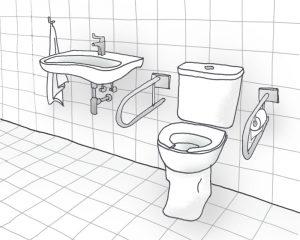 Ouderen met dementie ervaren hun omgeving heel anders dan mensen die niet aan die kwaal leiden. Zo zien ze een wit of grijs betegeld toilet met wit sanitair heel wazig. Contrasterende kleuren zien dementerende ouderen veel beter.