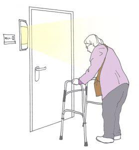 Ook wandlichten kunnen desoriënterend zijn voor dementerende ouderen