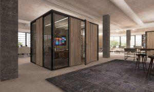 Alle wanden, panelen en plafonds zijn herbruikbaar, uitwisselbaar en verplaatsbaar