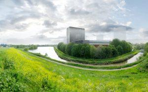 Binnen het masterplan van KCAP en Karres en Brands zijn nabij Equinix meer mogelijkheden voor hoogbouw voorzien