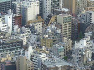 TTokyo 2016, rijkdom van architectuur die in elke mogelijke hoek ontstaat.