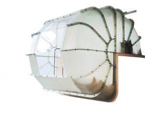 Prototype van de Monade Capsule in glasvezel en hars