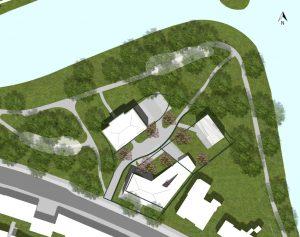 Hherontwikkelingsplan van MOPET uit 2013, met daarin gemonteerd de nieuwe villa.