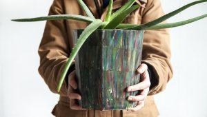 Dave Hakkens Precious plastic, Flowerpot