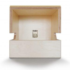 De vormgeving van de meubellijn Elementary is geïnspireerd op het figuur uit Pac-Man, ontwerp NOAHH.