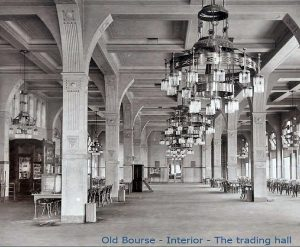 De voormalige beurszaal van de Diamantbeurs op de bel-etage