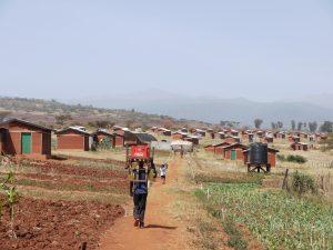 Huizenproject in Kenia waar Michiel Smits als MSc student (TU Delft) in 2011 regie aan gaf