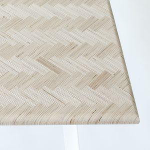 Constructed Surface Table (2014) is een tafel van multiplex restmateriaal uit de meubelindustrie met een stalen onderstel. Door het visgraatpatroon kan ook het kleinste reststuk gebruikt worden. Het blad is sterker dan het oorspronkelijke materiaal. Tegelaar bedacht hiervoor een lijmmachine die de lijm gelijkmatig verspreidt.