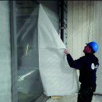Beschermfolie voor architectonisch beton Omniguard verwijderen