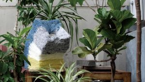 Recycled Fiber Planter van Eriko Yokoi