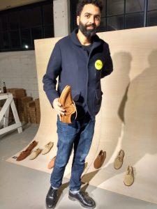 Said Belhadj met zijn schoenontwerp