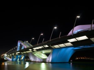 Sheikh Zayed Bridge in Abu Dhabi, Zaha Hadid architects • Foto Christian Richters