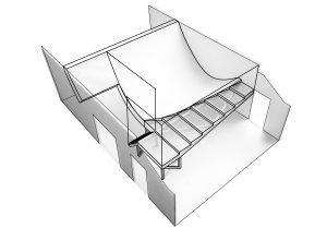 Tijdens zijn studie aan de TU Delft realiseerde hij zijn eerste ontwerp, een interieur van een kinderdagverblijf. Een fantasierijke ruimte, met een hangende vloer van zeildoek. Ontwerp i.s.m. Lok Jansen en Rem D. Koolhaas