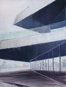 EYE, 2016. 'Drie vlakken met verschillende richtingen tonen de robuustheid van het gebouw. Ook zie je de reflectie van de oever.'