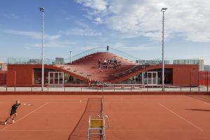Clubhuis The Couch van Tennisvereniging IJburg, MVRDV • Foto Daria Scagliola & Stijn Brakkee