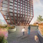 Driehoekige woontoren Barcode Architects