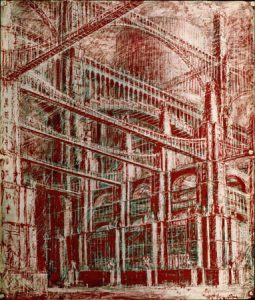 Iakov Chernikov, Architectonische fantasie, uit: Paleizen van het communisme, 1934-1941