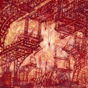 Iakov Chernikov, Architectonische fantasie, uit de serie Industriële architectuur, 1932-36